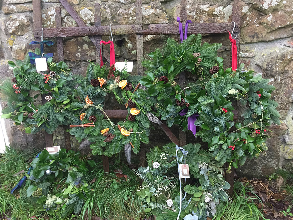 cornish local christmas wreaths